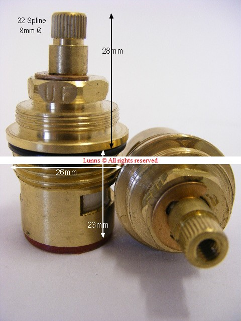 Tc bathrooms zurich mk2 bath tap cartridge valve 32 spline for Tc bathrooms
